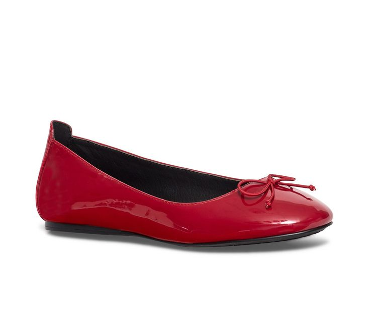 Ballerine noeud vernie rouge - Ballerines - Chaussures femme
