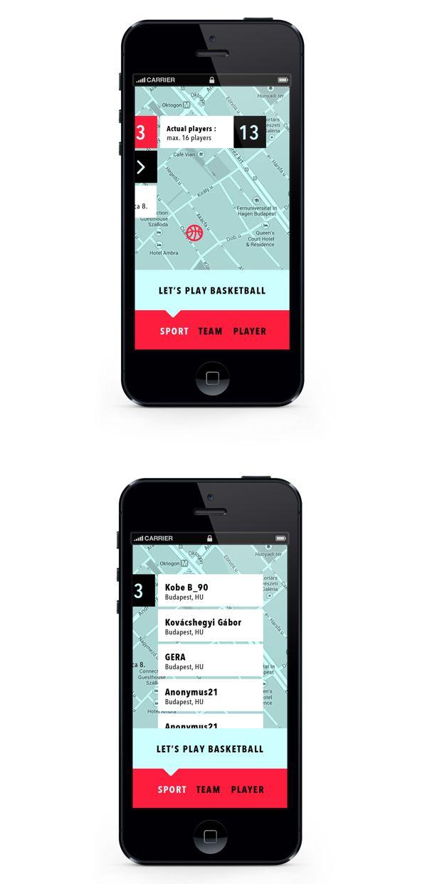 Team Player App by Adrienn Nagy, via Behance