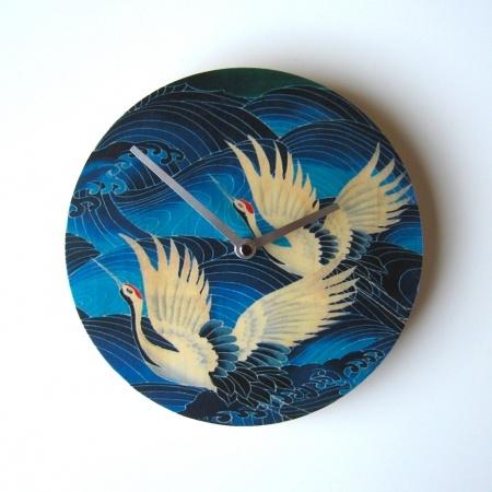 Objectify Blue Crane Wall Clock - hardtofind. $36.00 #hardtofind #birds #blue #crane #wall #clock