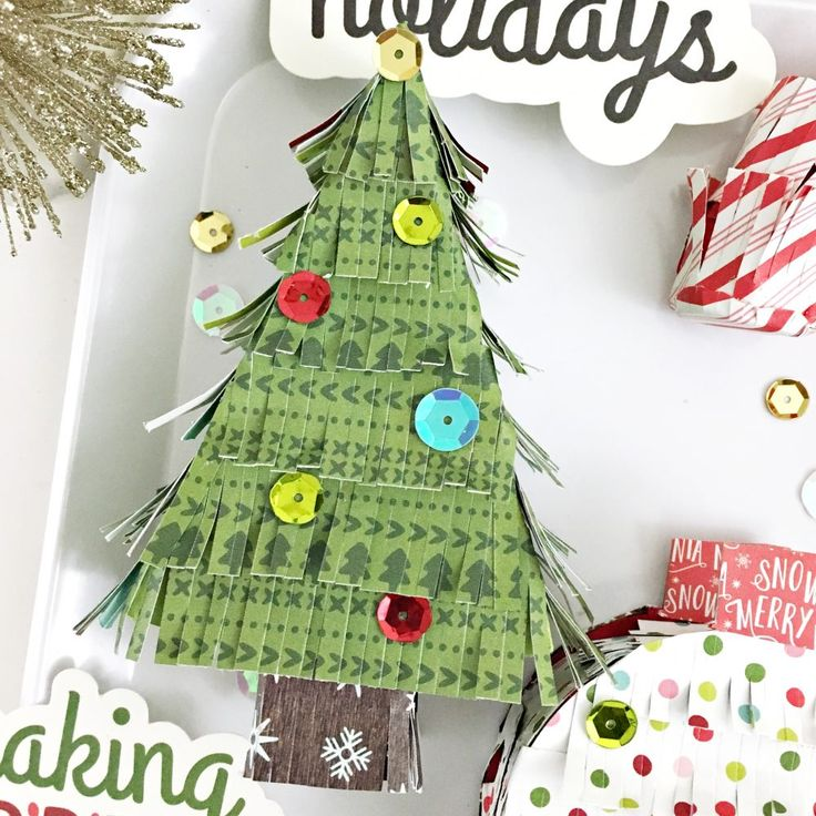 DIY Mini Christmas Pinatas Tutorial by @HeatherLeopard using @PebblesInc Holly Jolly collection #DIYChristmas #papercrafts #madewithpebbles