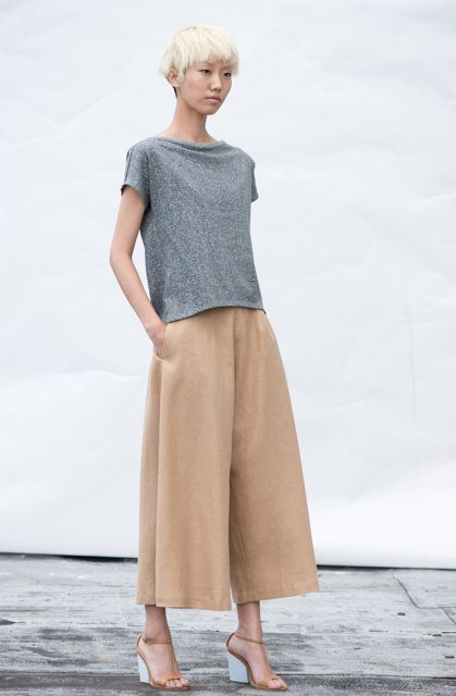 Wolcott : Takemoto | Spring 15 Marvel top and Knavish culottes