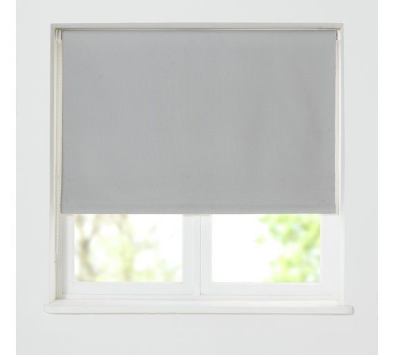 Buy HOME Thermal Blackout Roller Blind - 4ft - Soft Grey at Argos.co.uk, visit Argos.co.uk to shop online for Blinds, Blinds, curtains and accessories, Home furnishings, Home and garden