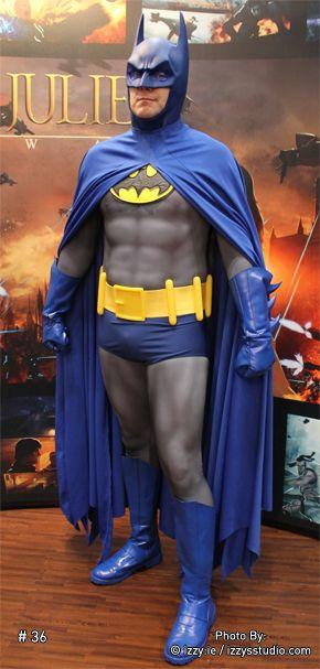 Batman Cosplay, Blue and Grey Version.