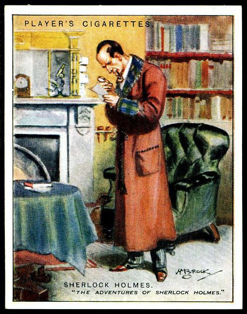 Cigarette Card - Sherlock Holmes by cigcardpix, via Flickr