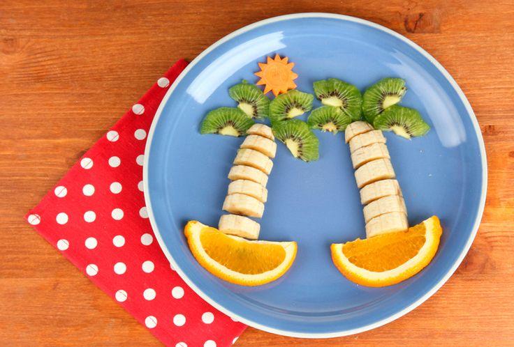 Meriendas originales: Palmeras de kiwi y plátano - Recetín