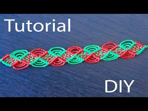 pulseras de hilo faciles anchas | friendship bracelet tutorial - YouTube