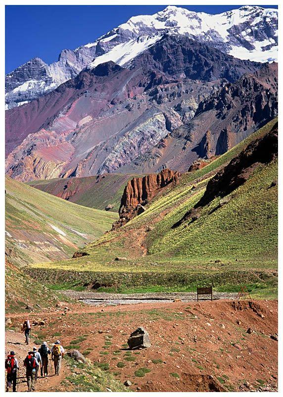 Cerro Aconcagua, la mayor altura de la cordillera de los Andes. Pcia de Mendoza. Argentina