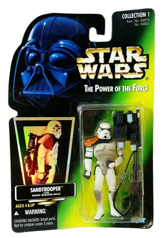 """MOC Star Wars POTF Kenner 3"""" Sandtrooper w/ Heavy Blaster Rifle Action Figure #Kenner"""