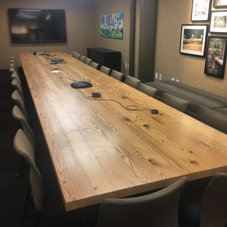 Windfall Lumber Reclaimed Douglas fir plank Conference Table
