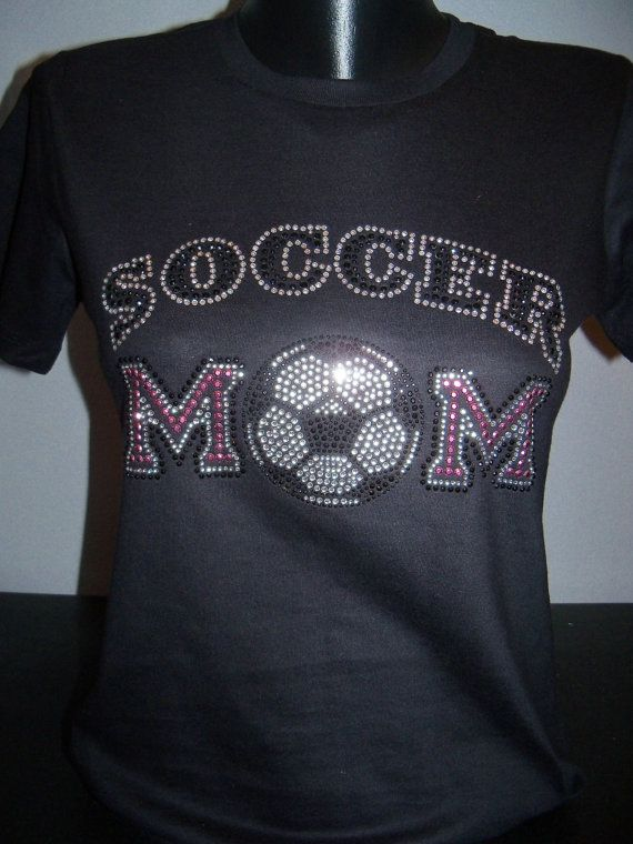 Soccer+Mom+Pink+and+Clear+Bling+Shirt+by+flashyexpressions+on+Etsy,+$15.99 I must get this one