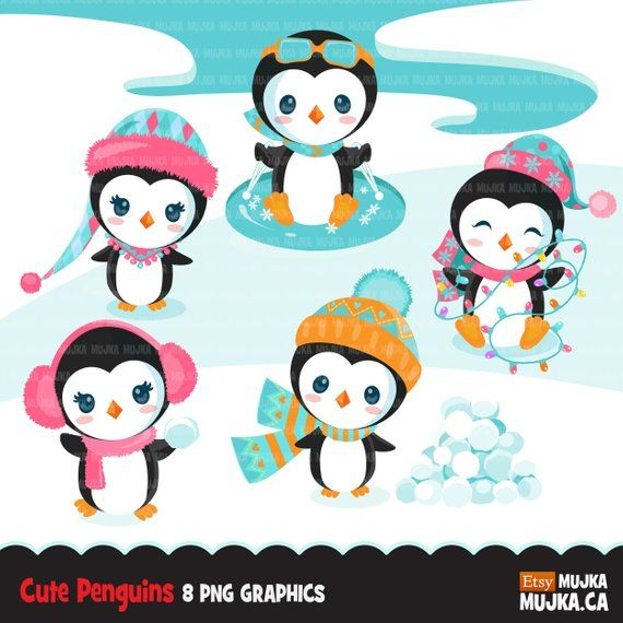 Child Penguin Clipart Free PNG Image|Illustoon