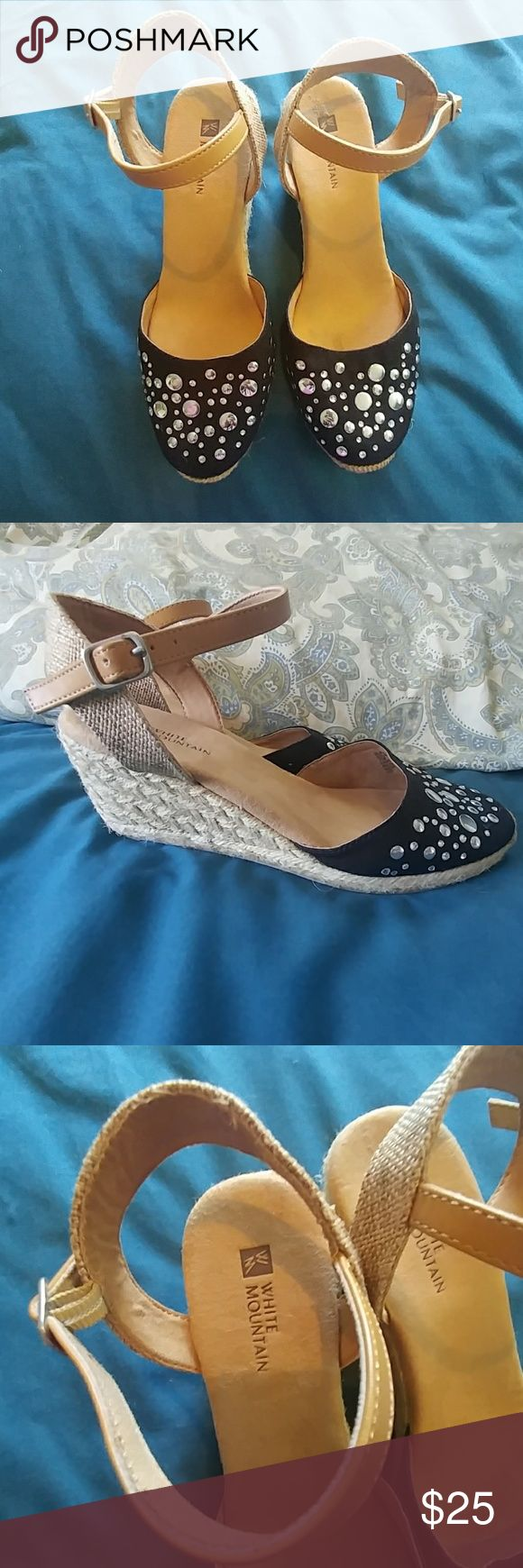 Black sandals littlewoods - White Mountain Sandals Low Wedge White Mountain Sandals Low Wedge Style Cute Black Fabric