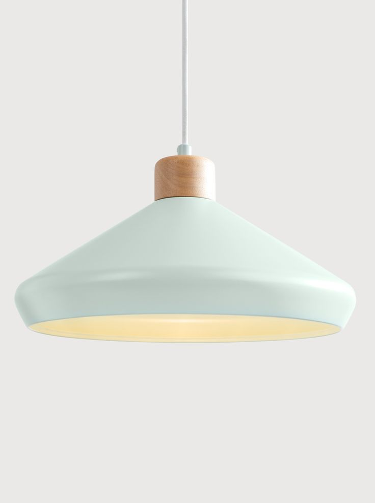 Albert Pendant Lamp, in Duck Egg Blue. Add a touch of Scandi Style to your home. £49. MADE.COM