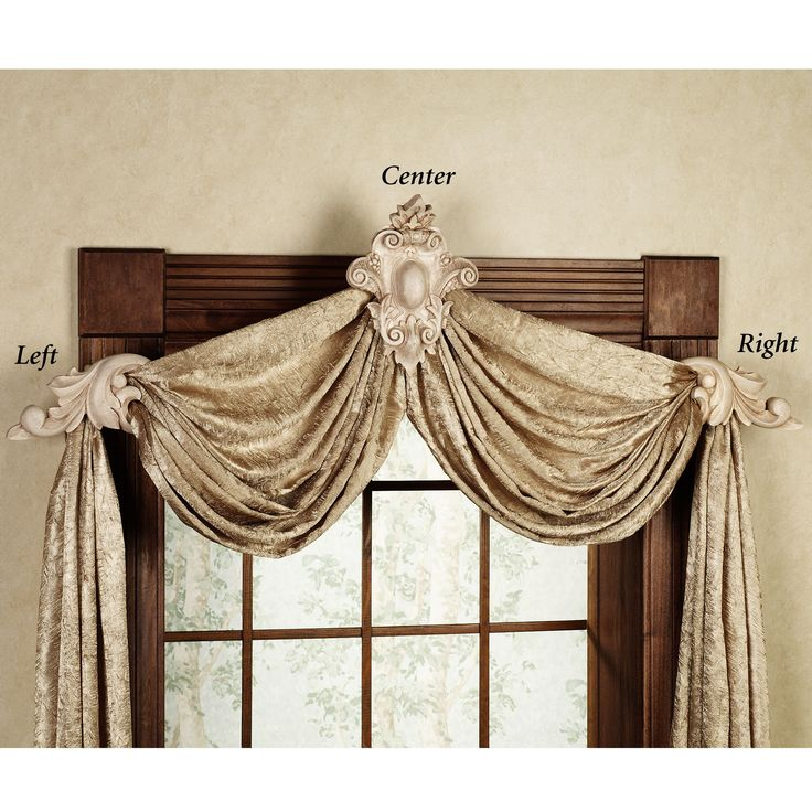 Wine Bottle Sconce With Bracket | Home U003e Leaf Swag Crest Drapery Hardware  Mounting Brackets. Swag CurtainsValanceDecorative Curtain RodsDrapery ...