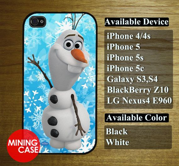 olaf disney froen for iphone 4/4s iphone 5 iphone 5s by miningcase, $13.45