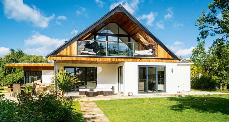 Self-designed extension to a chalet-style home