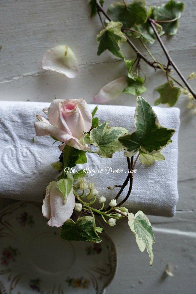 Mini trésor sur une serviette (Mini wreath on a napkin)