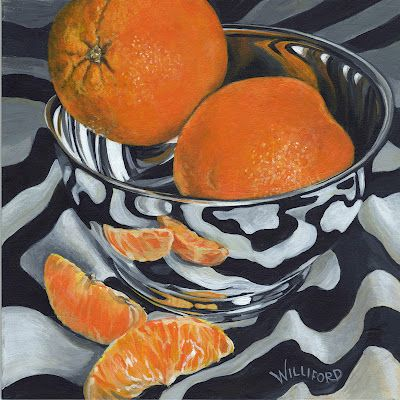 Shiny Bowl with Oranges