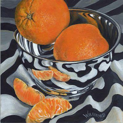 Shiny Bowl with Oranges: Kathleen Wiliford