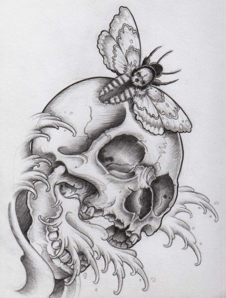 Skull Sketch Tattoo Drawing | Design images