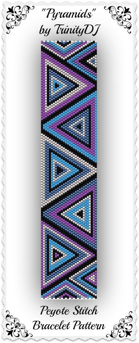 Triangles peyote pattern