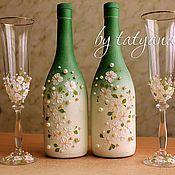 Купить или заказать Свадебные бокалы 'Символ верности' в интернет-магазине на Ярмарке Мастеров. В день свадьбы хочется быть неповторимой во всем! А, как известно, в деталях вся суть, из них складывается общая картина события. Такой важный аксессуар как бокалы для молодоженов заслуживают отдельного внимания! Ведь эти бокалы послужат символом начала создания молодой семьи. Из них супруги будут пить шампанское и на первую годовщину, и на рождение малыша, и в эти моменты воспоминания внов...