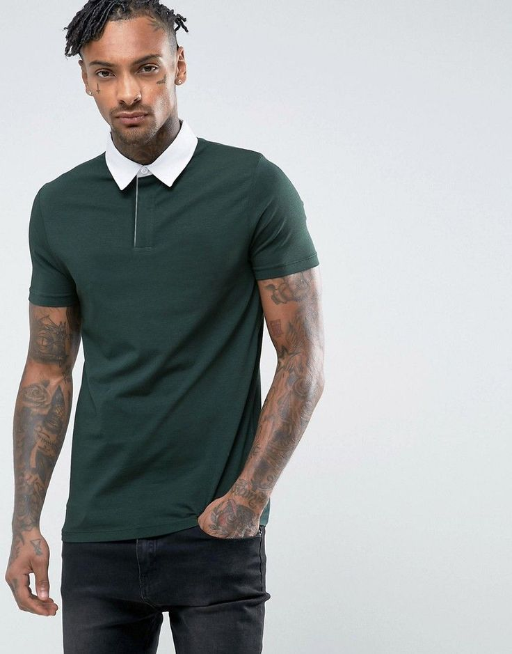 ASOS Muscle Rugby Polo Shirt In Bottle Green - Green
