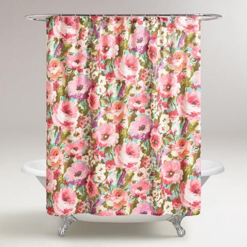 Marvelous Watercolor Floral Rosamunde Shower Curtain