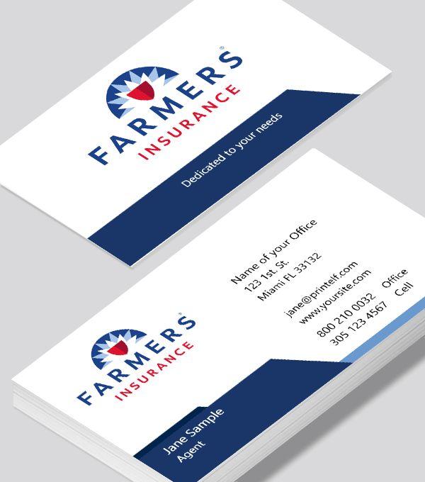 Farmers Insurance Clean business card - Modern Design in ...