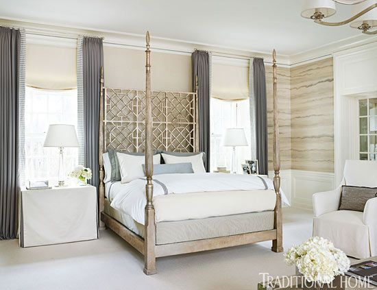 Neutral Bedrooms Traditional Homes And Bedroom Window Treatments On Pinterest