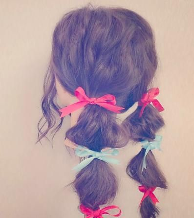 リボンでとめればキュートなぽこぽこヘアスタイル♡参考にしたいカット・アレンジ・髪型☆