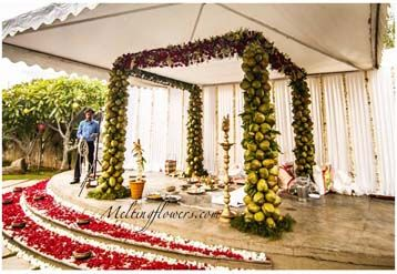 Mandap Decoration In Bangalore With Best Flower Decorators #weddingDecorations #weddingTips #mandap #stage #entrance #drapes #mehndi #sangeet #eventplanner #weddingplanner #marriage #flowers