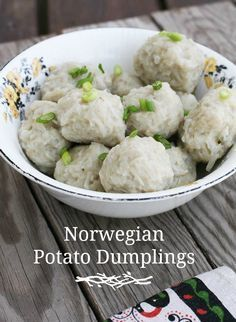 Norwegian potato dumplings (potato klub). A historic recipe.                                                                                                                                                                                 More