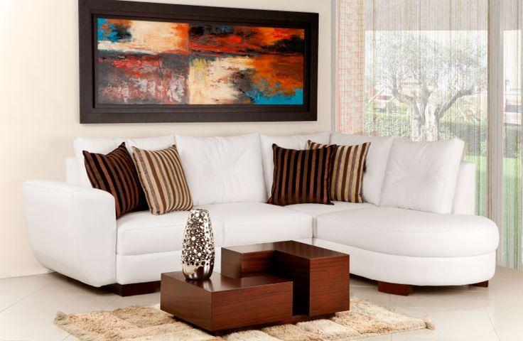 Colores claros y terminados delicados. Sofa #Vivaldo  www.maderaymuebles.co