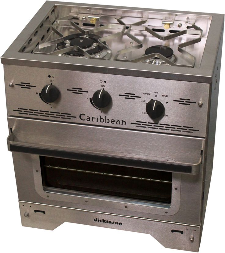 Caribbean Two Burner Gas Stove - Dickinson Marine | Dickinson Marine