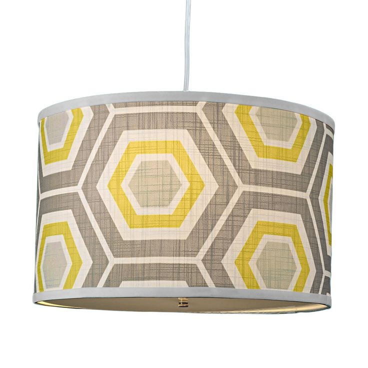Retro Honeycomb Drum Shade Pendant