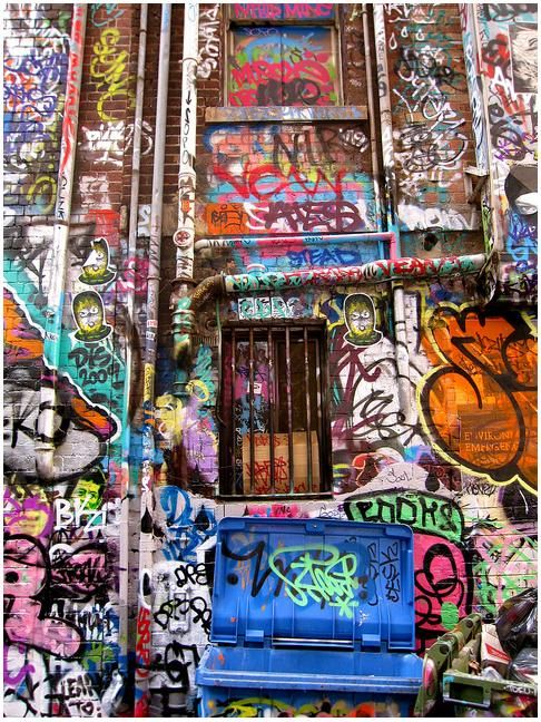Rutledge Lane at Melbourne in Australia.  Saw this photo and totally remembered seeing this while I was there!  Wow I miss oz.