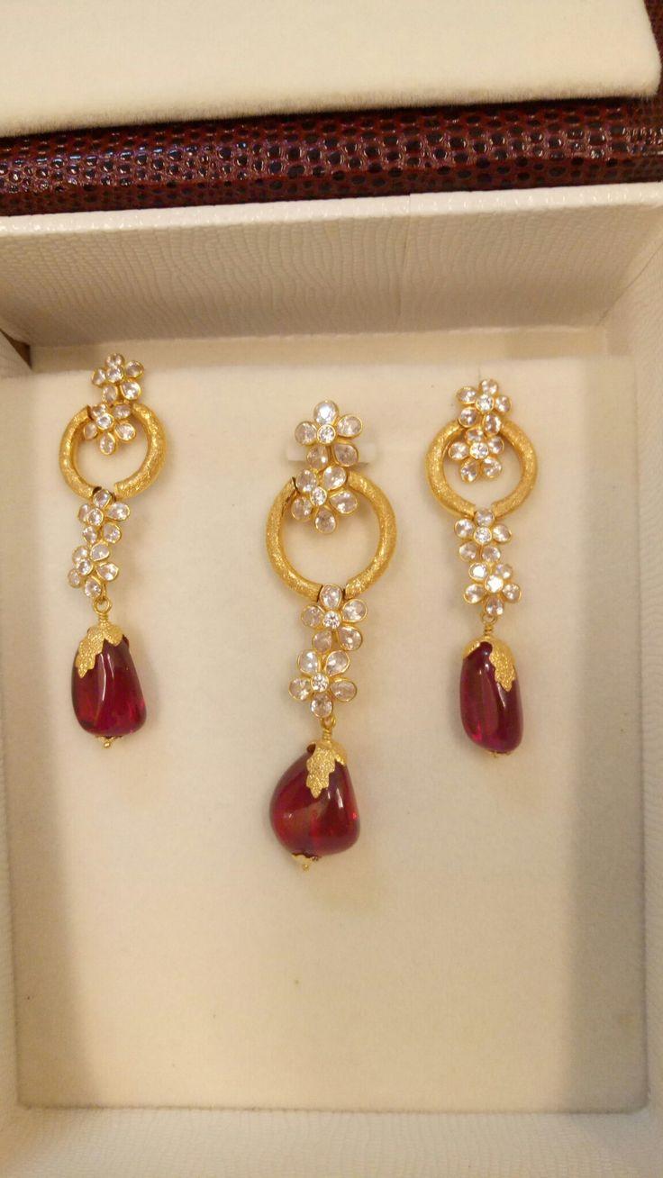 Gold Dangle Earrings Wedding