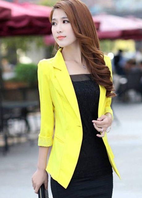 Cheap Shiny Three Quarter Sleeve Yellow Blazers For Women In Women Coats From Women Clothing On ...