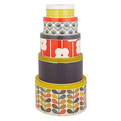 Buy Orla Kiely Multi Stem Cake Tins, Set of 5 Online at johnlewis.com