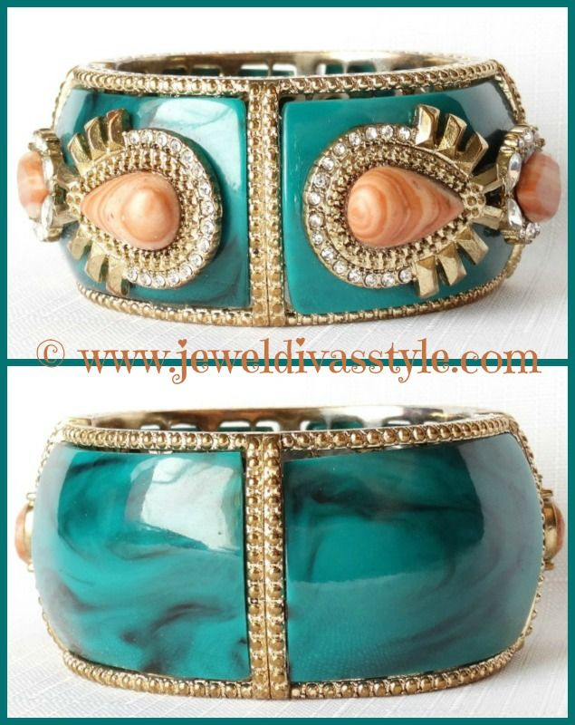 JDS - bought this gorgeous sea green bangle - details on the blog - http://jeweldivasstyle.com/brand-new-jewellery-bargains-so-far-this-year/