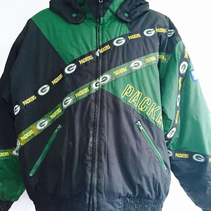 Vintage Green Bay Packers Men's Coat Sz Large Pro Player NFC North Champs #ProPlayerByDanielYoung #Parka
