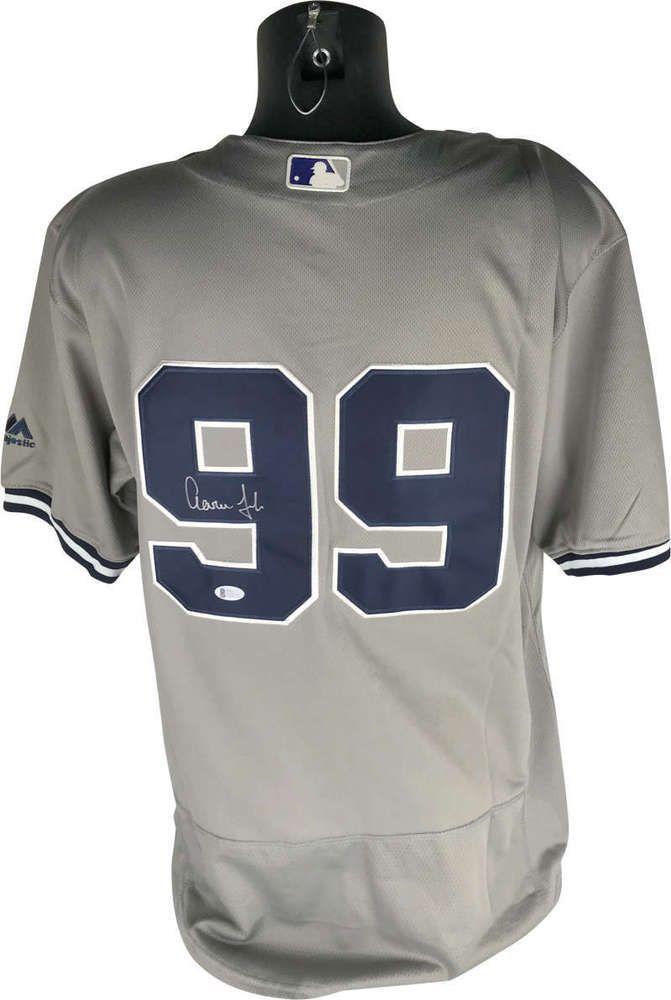 Aaron Judge Signed Autographed Yankees Jersey Beckett BAS (eBay Link ... 250ffe2d5e6