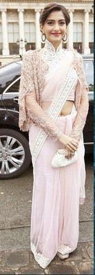 Ved Deal's Bollywood Replica Sonam Kapoor Heavy Cream Designer Saree Bollywood Sarees Online on Shimply.com