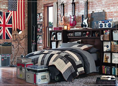 12 Cool Teenage Bedroom Ideas for Boys from PBTeen