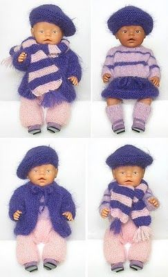 Wollyonline Blog: Gratis BABY Born® Poppenkleertjes Breipatronen