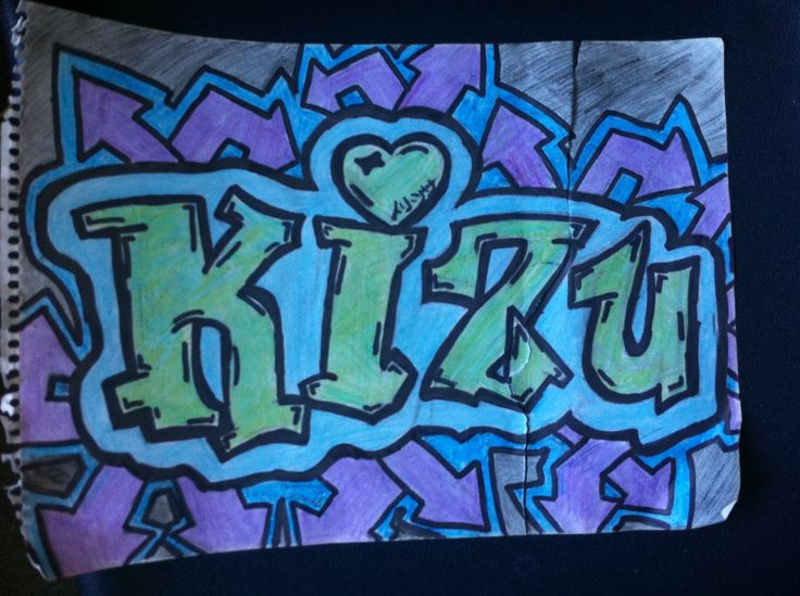 My first graffiti tagg ;; kizu ;; eigen spuit ontwerp