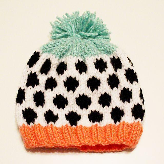 Ravelry: Layla Polka Dot Stranded Knit Hat pattern by Kayleigh Kirkland