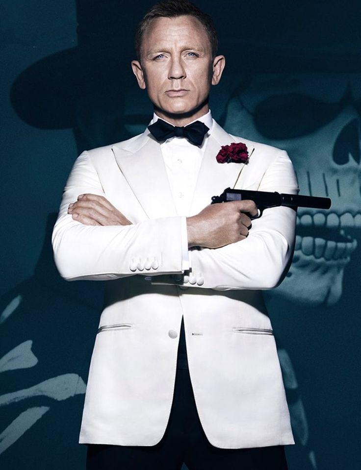 Daniel Craig James Bond White Tuxedo