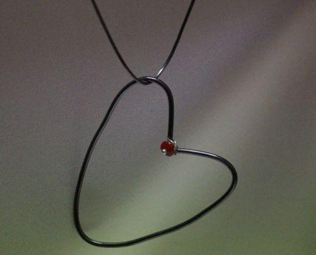 gümüş oksit halka kalp kolye